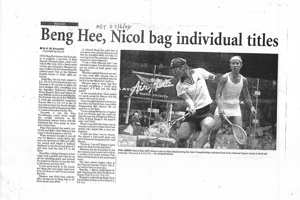 Beng Hee, Nicol bag individual titles