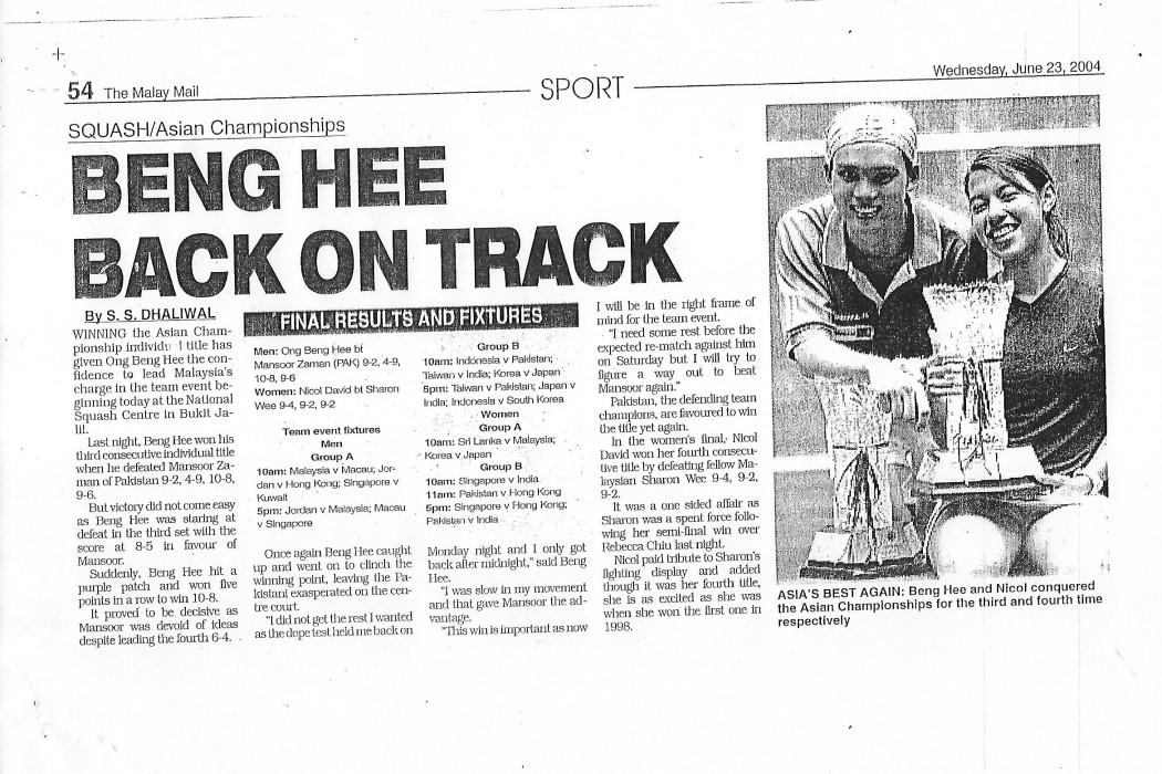 Beng Hee back on track