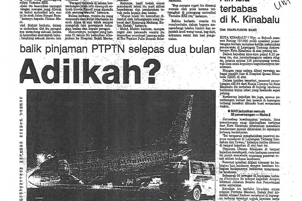 Boeing 737 airasia terbabas di K. Kinabalu - 01