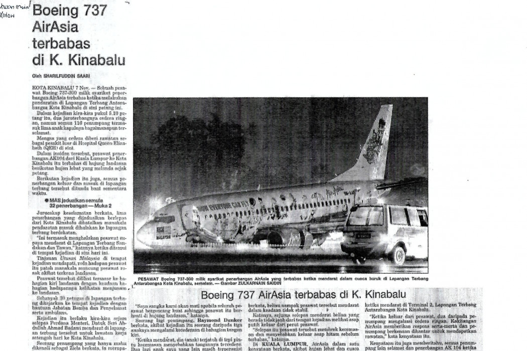 Boeing 737 airasia terbabas di K. Kinabalu - 02