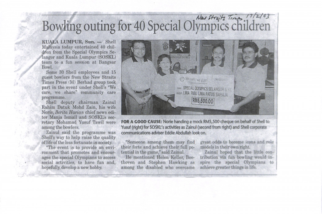 Bowling outing for 40 Special Olympics children