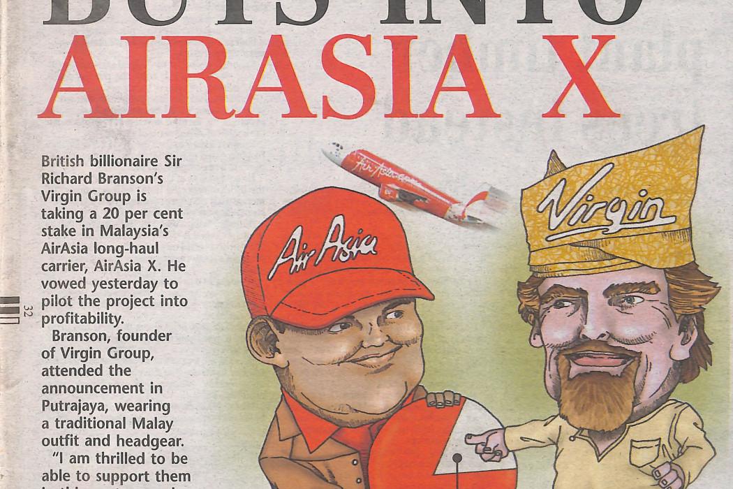 Branson Buys Into airasia X - 01