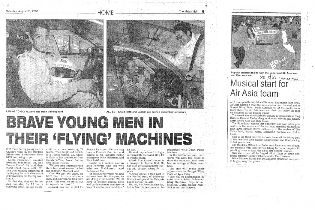 Brave Young Men in Their 'Flying' Machines