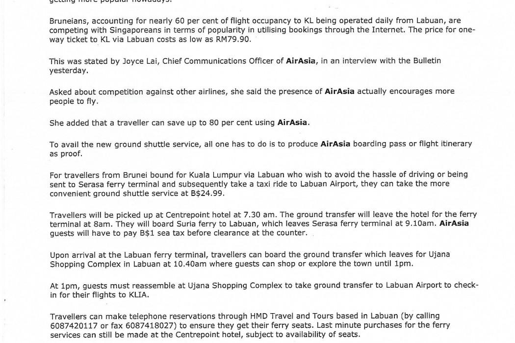 Brunei airasia to launch new ground shuttle service (2)