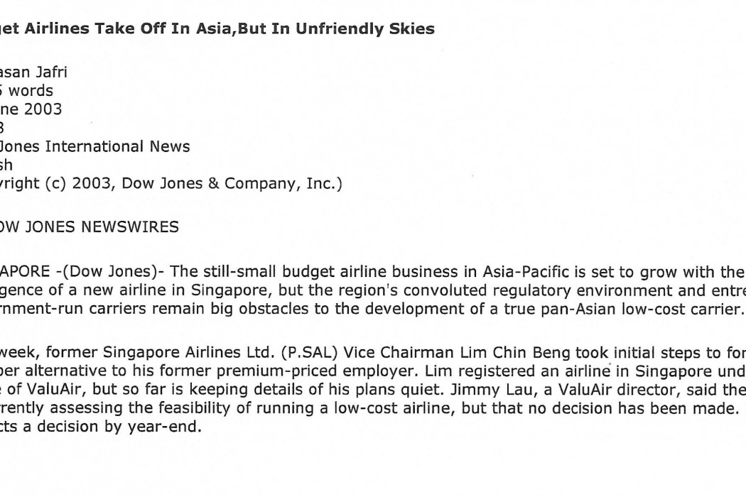 Budget Airlines Take Off In Asia, But In Unfriendly Skies - 01
