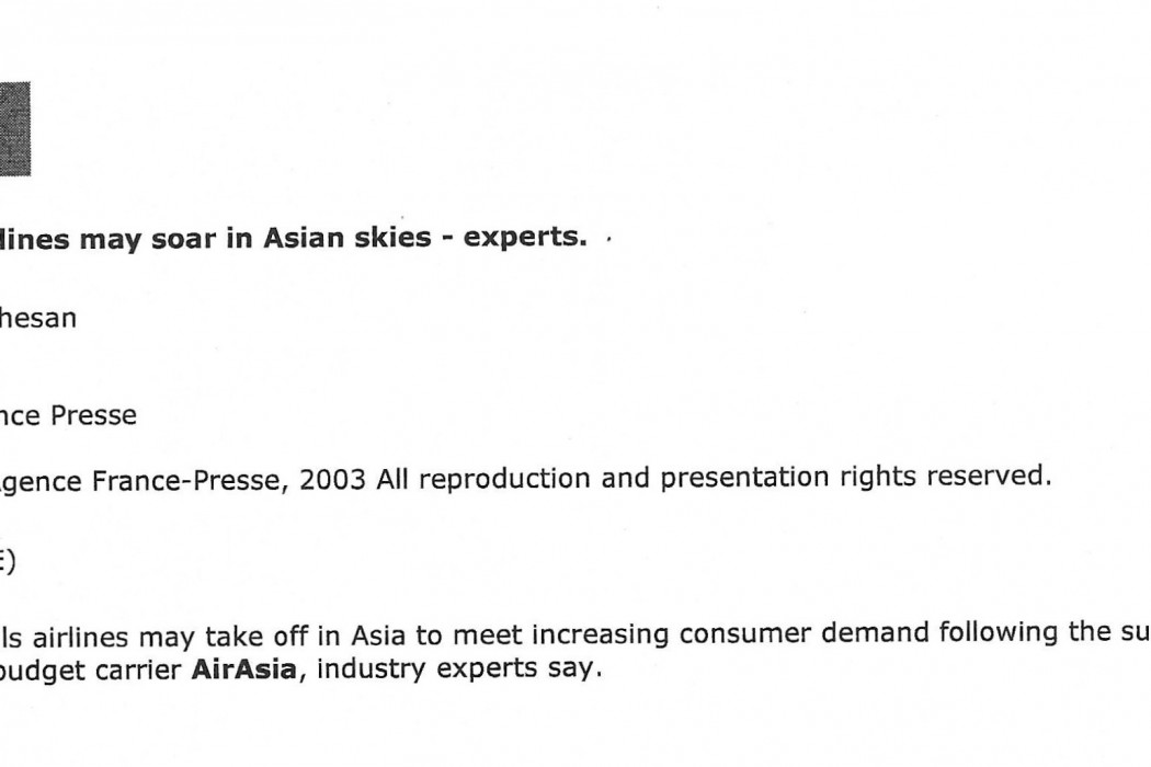 Budget airlines may soar in Asian skies - experts - 01