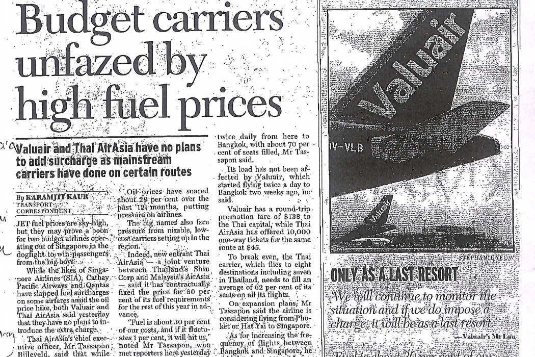 Budget carriers unfazed by high fuel prices