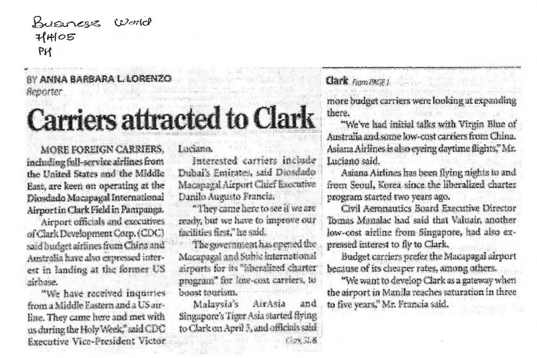 Carriers attracted to Clark