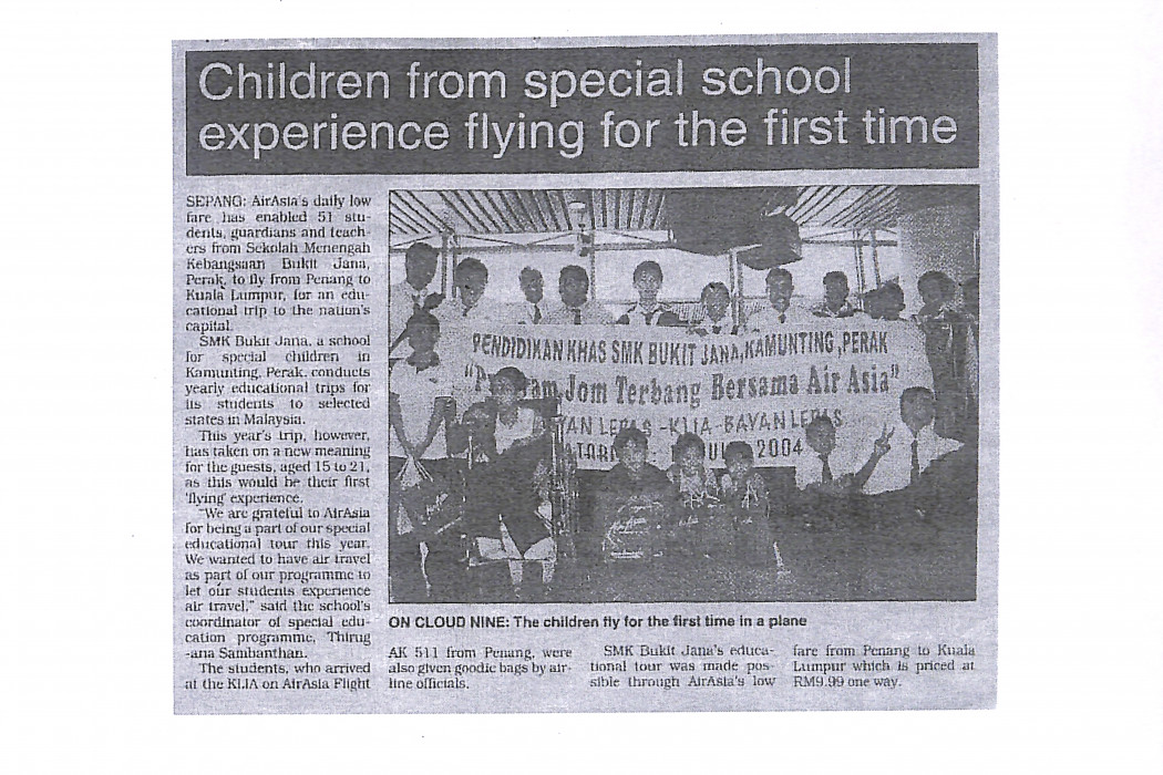 Children from special school experience flying for the first time
