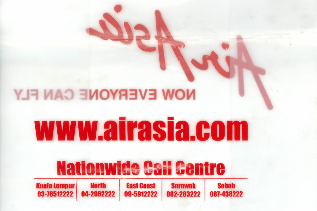 Clear Plastic Bag With airasia Logo And NOW EVERYONE CAN FLY (2)