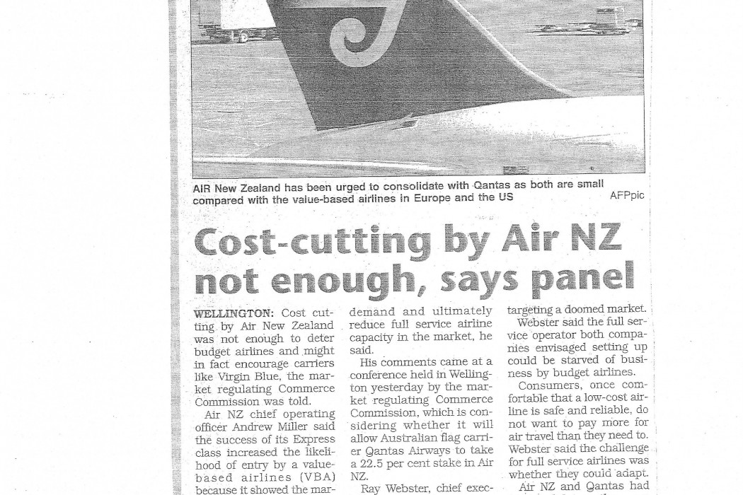 Cost-cutting by Air NZ not enough, says panel