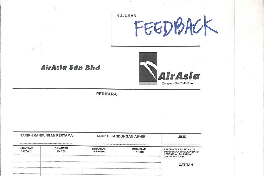 Customer Service Feedback Folder