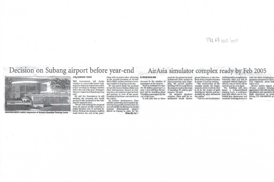 Decision on Subang airport before year-end