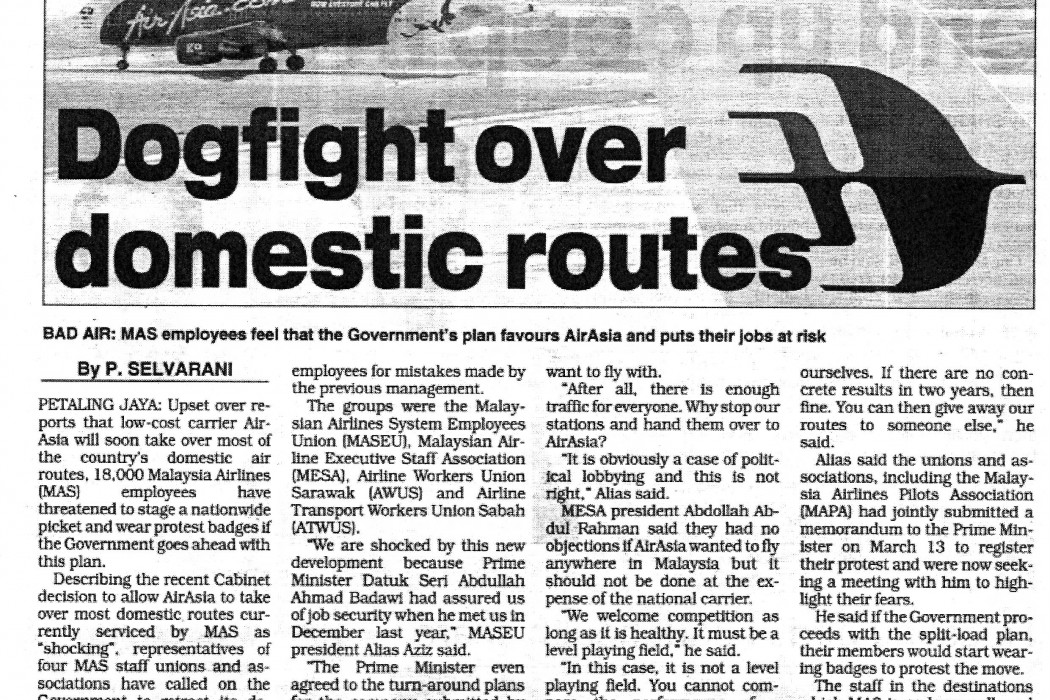 Dogfight over domestic routes