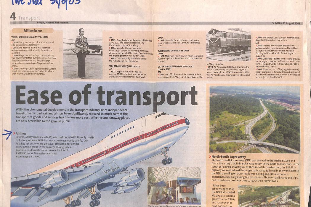 Ease of transport Airlines