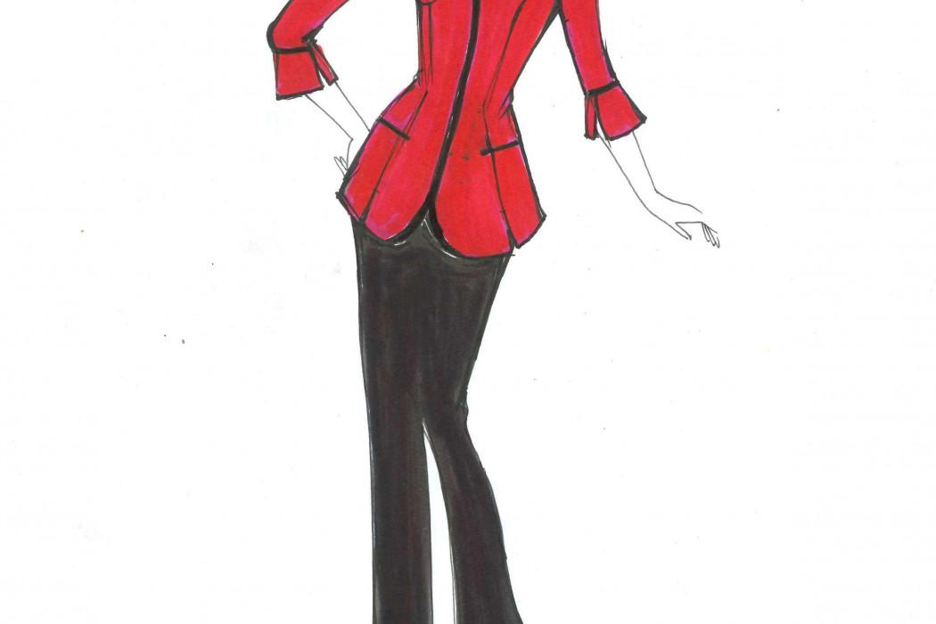 Female cabin crew design sketch (1)