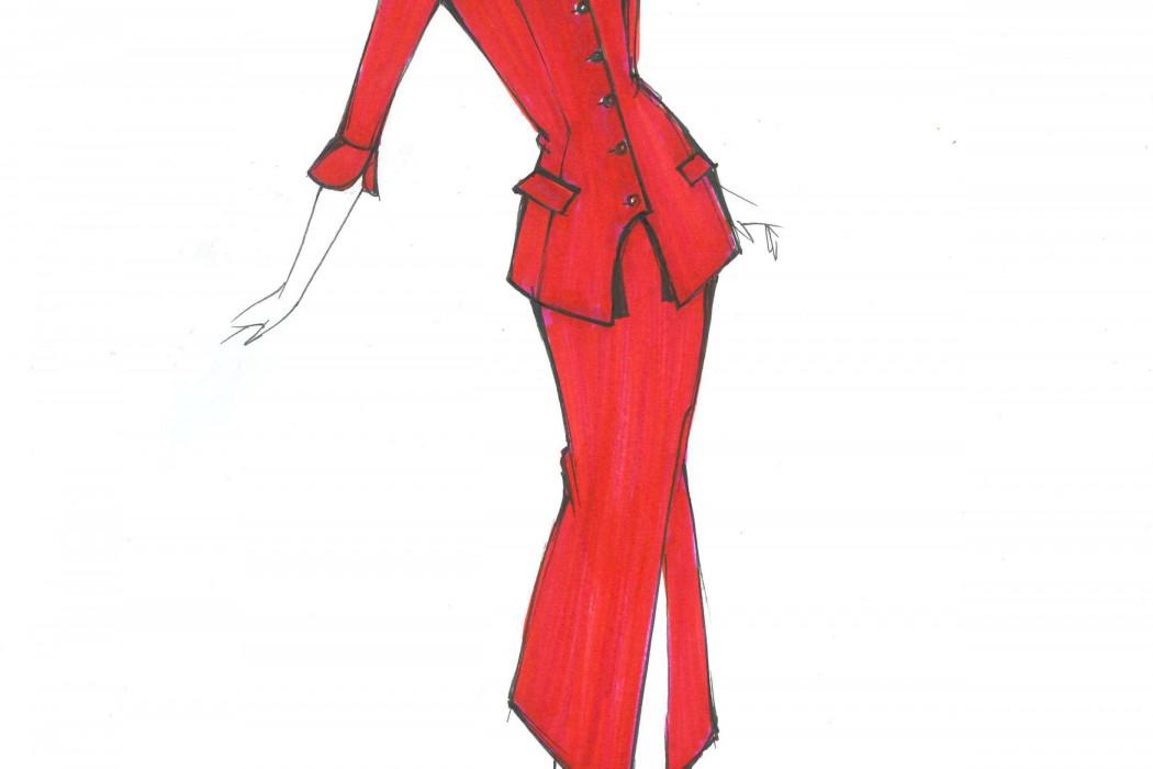 Female cabin crew design sketch (2)