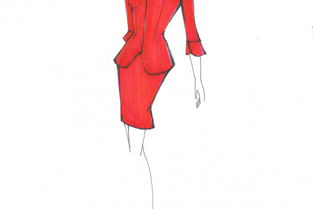 Female cabin crew design sketch (3)