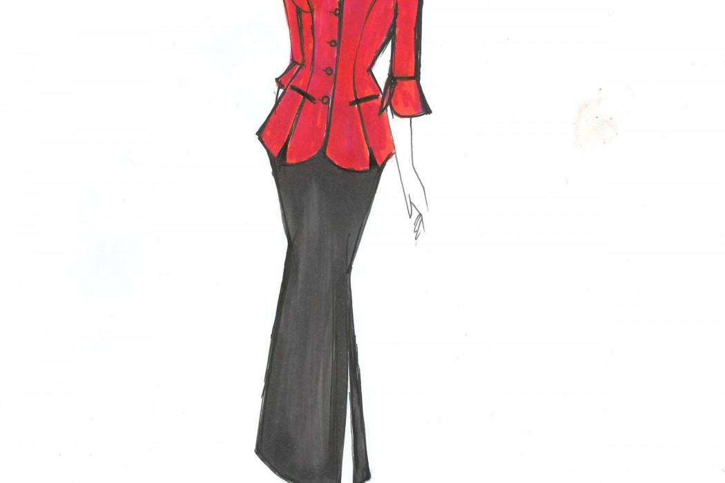 Female cabin crew design sketch (4)