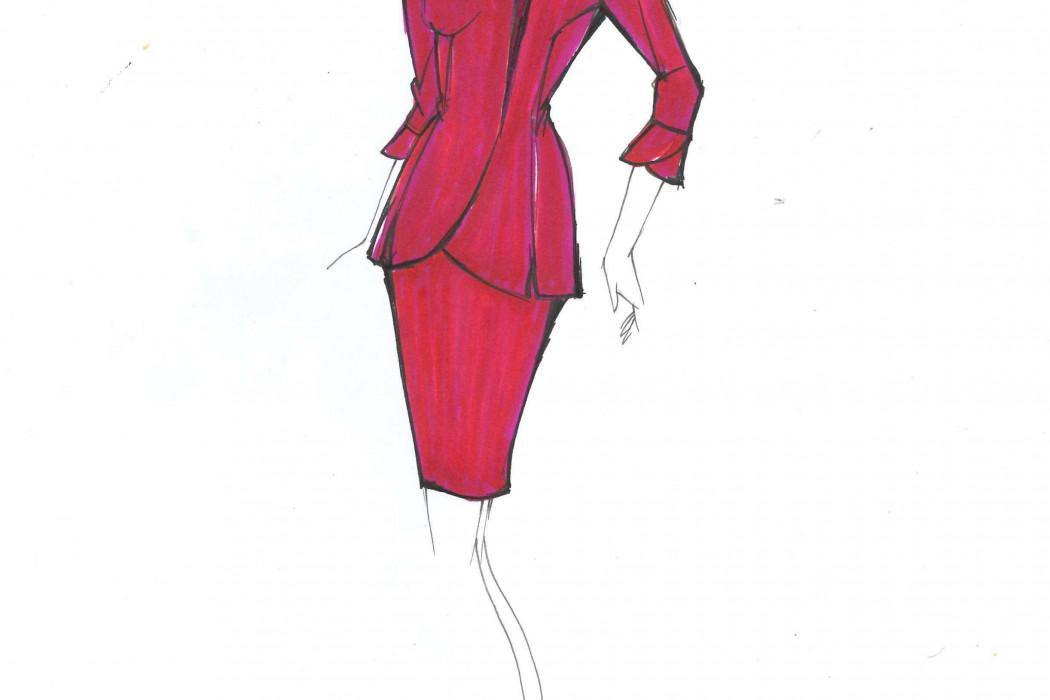 Female cabin crew design sketch (6)