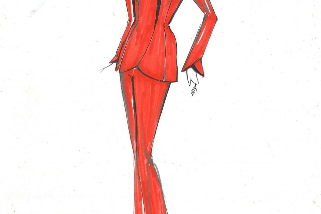 Female cabin crew design sketch (7)