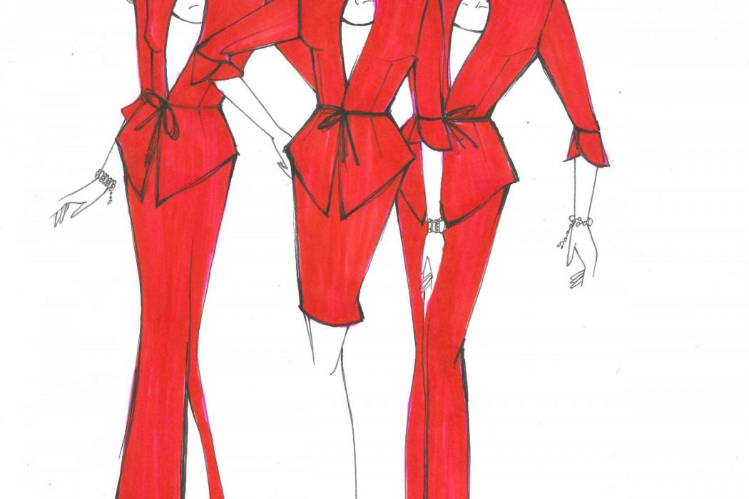 Female cabin crew design sketch (8)