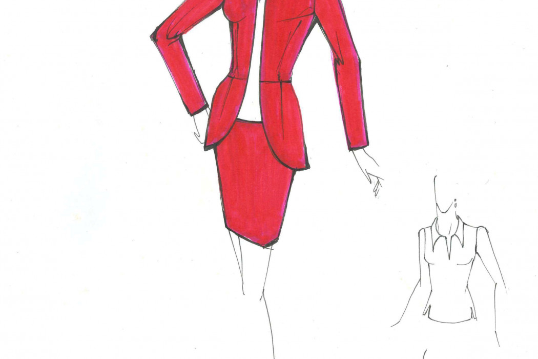 Female cabin crew design sketch (9)