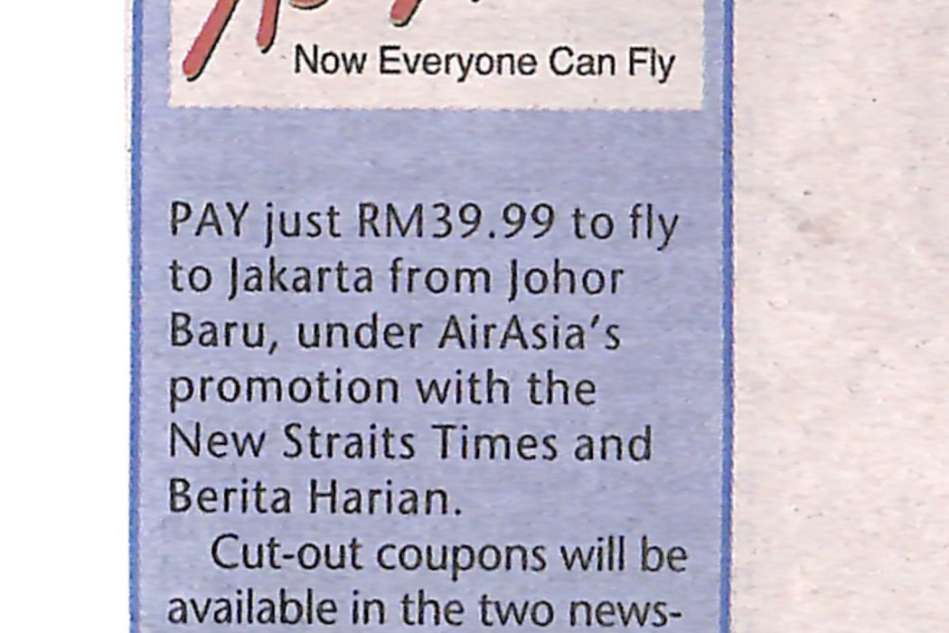 Fly to Jakarta for only RM39.99