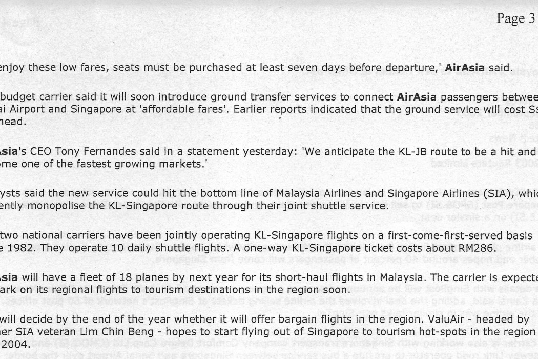 Fly to KL for under RM20, but for a limited period only (2)