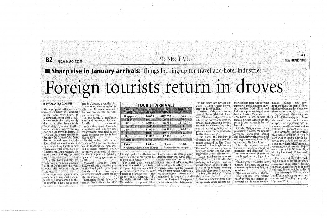 Foreign tourists return in droves