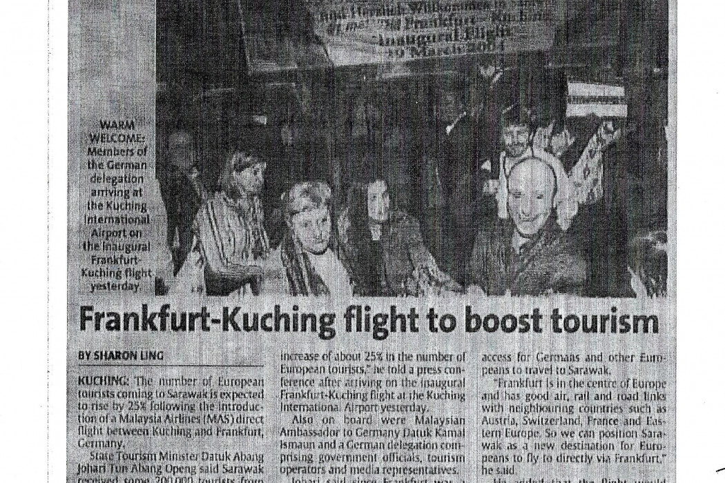 Frankfurt-Kuching flight to boost tourism
