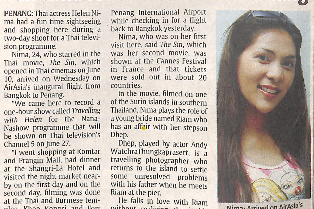 Fun time for Thai actress in Penang