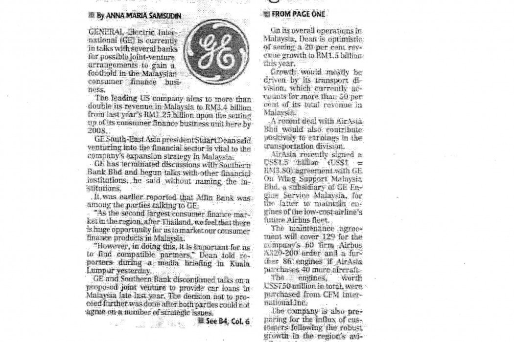 GE in talks with banks on consumer finance ventures