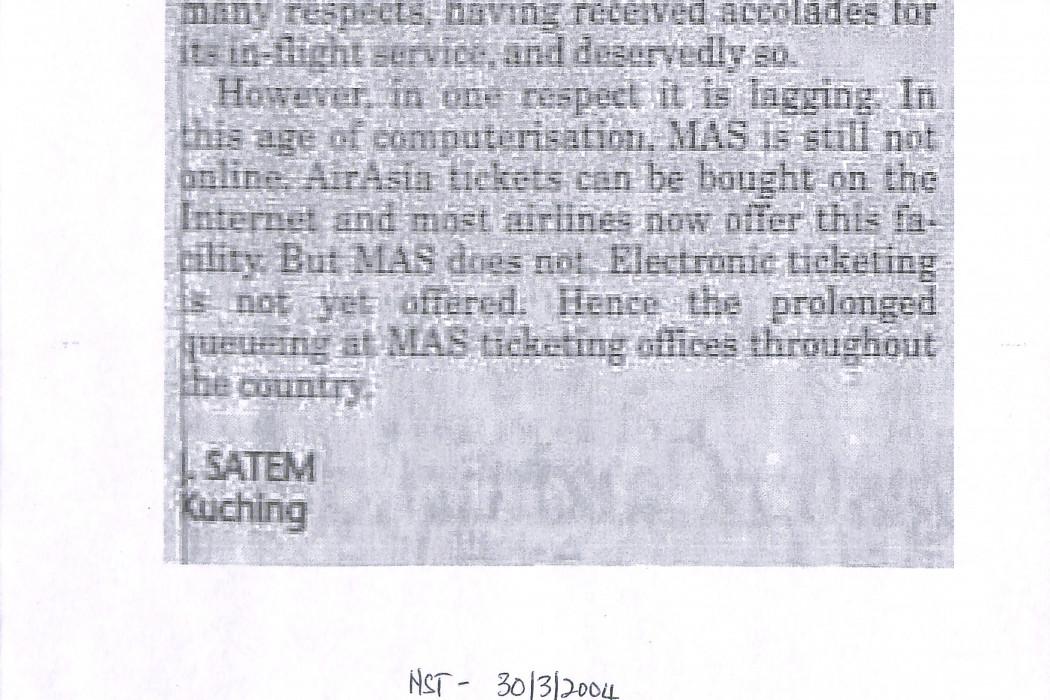 Get online, MAS
