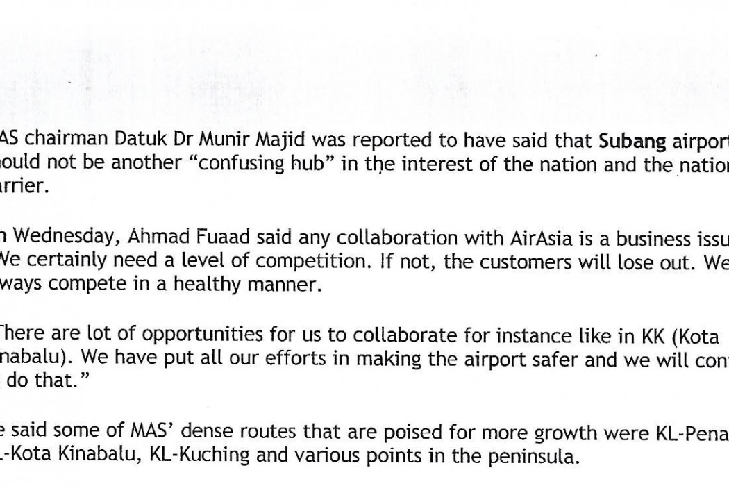 Govt to study and decide on Subang airport - 03