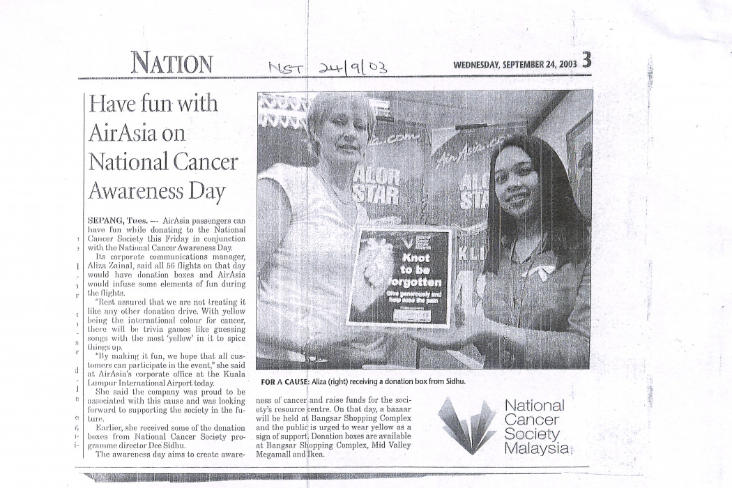 Have fun with airasia on National Cancer Awareness Day