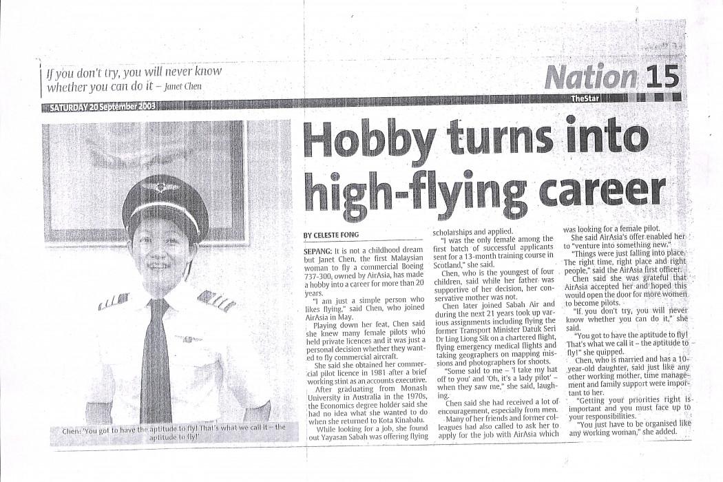 Hobby turns into high-flying career
