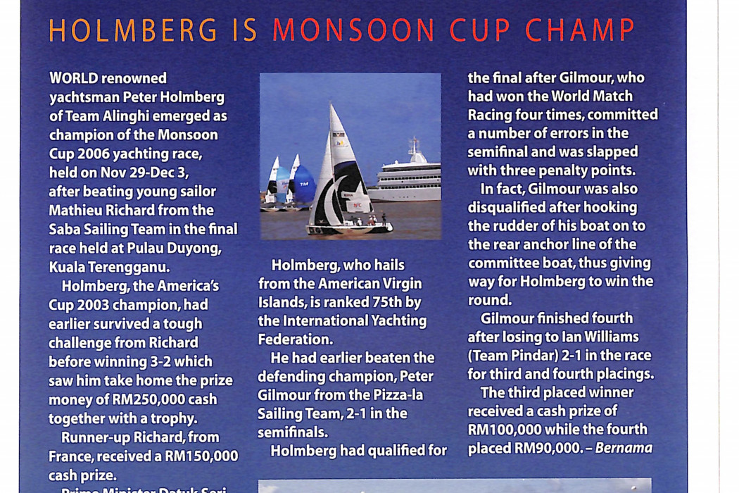 Holmberg is Monsoon Cup champ