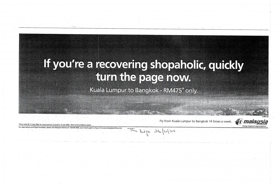 If you're recovering shopaholic, quickly turn the page now (MAS)