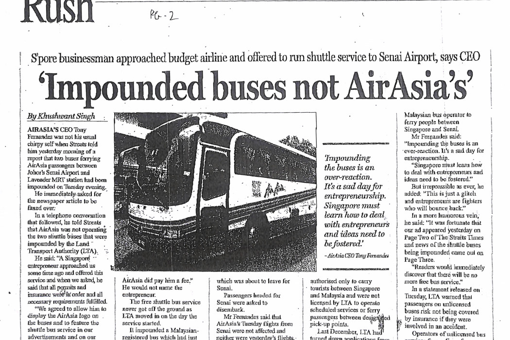 Impounded buses not airasia's