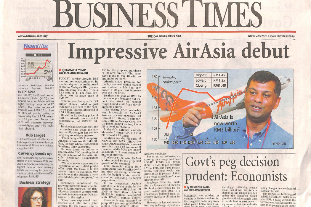 Impressive airasia debut