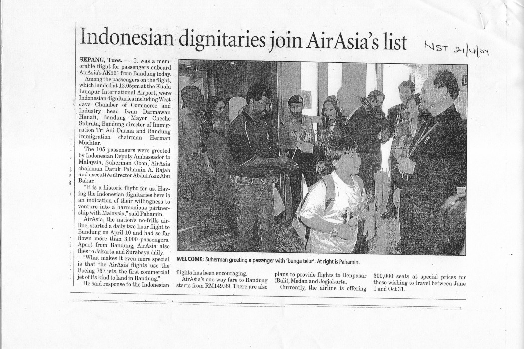 Indonesian dignitaries join airasia's list