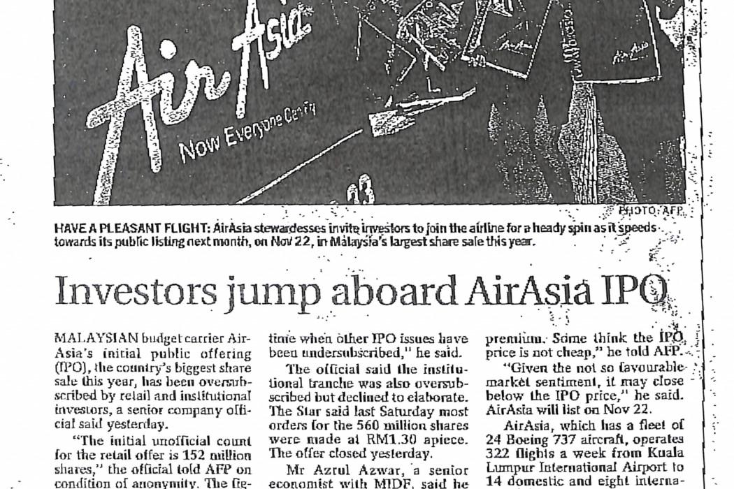 Investors jump aboard airasia IPO