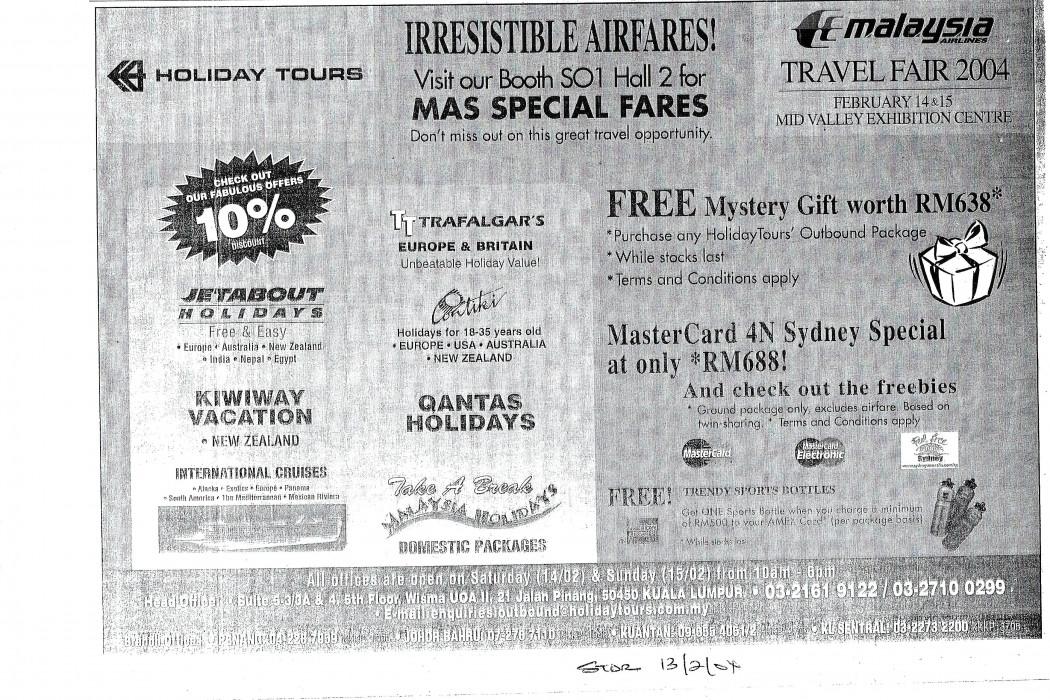 Irresistible Airfares! (MAS)