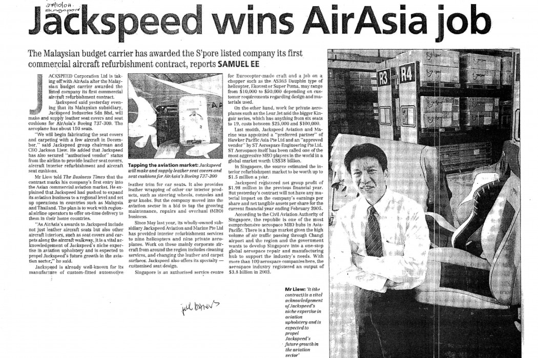 Jackspeed wins airasia job