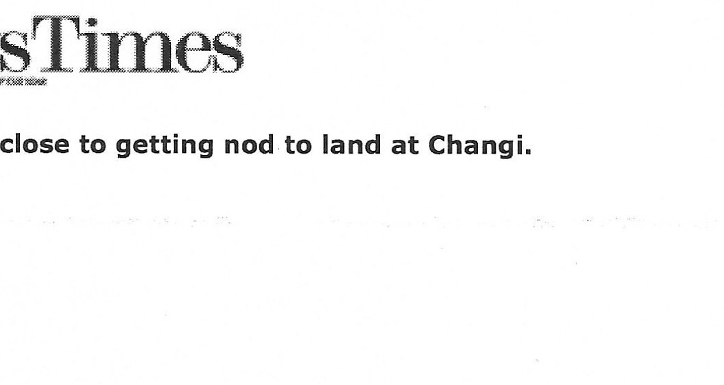 Jakarta budget airline close to getting nod to land at Changi (1)
