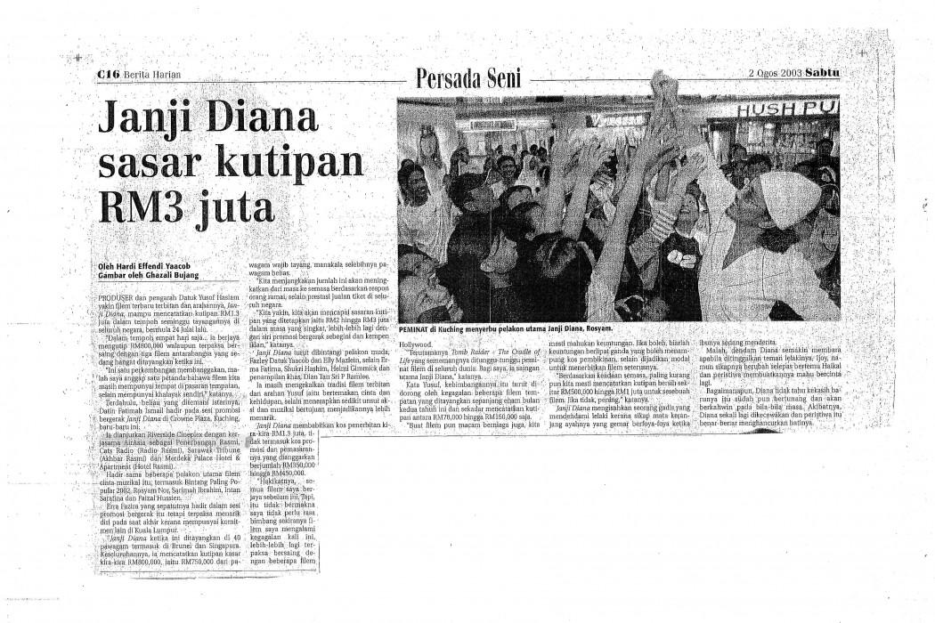 Janji Diana sasar kutipan RM3 juta