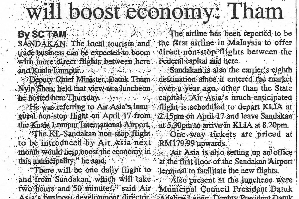 KL-S'kan direct flight will boost economy Tham