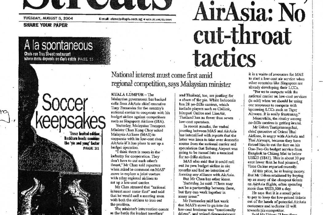 KL to MAS, airasia No cut-throat tactics