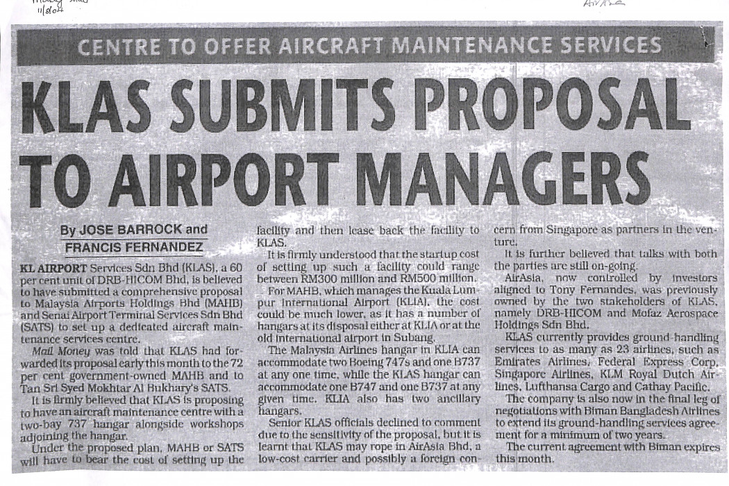 KLAS Submits Proposal to Airport Managers